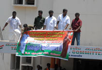 Cong workers protest in Kanyakumari