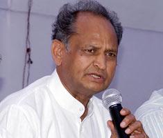 Rajasthan CM addresses media ahead of LS polls