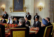 G20 leaders discuss economic crisis over the dinner