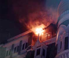 Taj Hotel battles raging fire