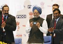 PM inaugurates India Telecom 2008