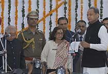 Ashok Gehlot takes oath as CM