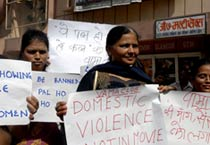 Women protest against domestic violence
