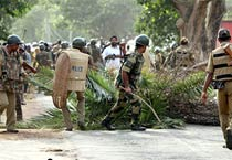 Forces in action in Lalgarh