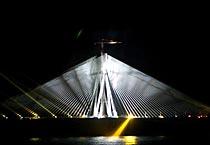 Laser show illuminates sea link