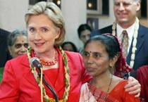 Hillary Clinton's visit to India
