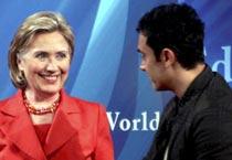 Hillary meets Aamir Khan