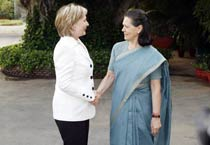 Hillary Clinton meets Sonia