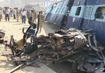 Trains collide near Mathura