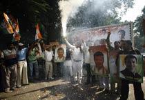 Congress celebrates victory