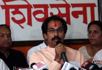 Uddhav adresses the media