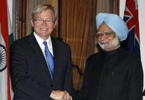 Kevin Rudd meets Manmohan