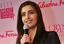 Sonam at breast cancer campaign