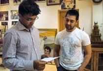 Aamir's visit stumps Sourav Ganguly!