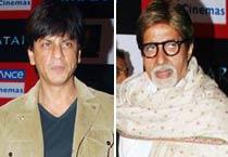 SRK, Big B at <em>Avatar</em>'s premiere