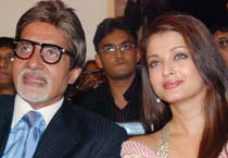 Big B, Ash at event minus Abhi!
