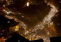 Massive traffic jam at CP