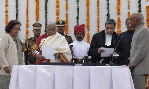 Prabha Rau takes oath as Rajasthan Guv