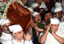 Tahir Hussain's funeral
