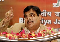 Gadkari addresses media in Delhi