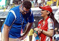 Kings XI owner Preity's various moods