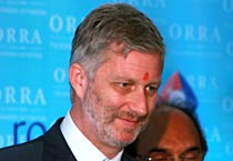 Prince Philippe of Belgium in Mumbai