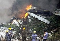 Pictures of Mangalore air crash