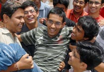 Students celebrate after clearing IIT-JEE