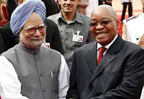 South African President arrives in Delhi