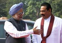 Lanka prez meets PM Manmohan Singh