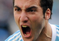 Higuain slams Cup's first hat-trick