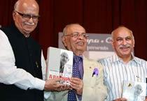 Advani at Nana Chudasama's book launch