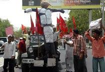 Jaipur: Protest against fuel hike