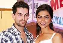 Deepika, Neil promote 'Lafangey Parindey'