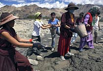 Leh flash floods: Rescue work on