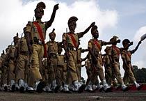 Bhopal police rehearse I-Day parade