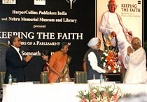 PM attends Somnath Chatterjee's book release