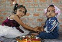 Raksha Bandhan celebrated in Bhopal