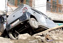 Leh, damaged by flash floods