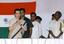 Sonia re-elected as Congress chief