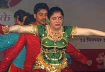Sudha Chandran performs with specially-abled kids