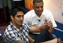 Boxer Vijender attends product launch