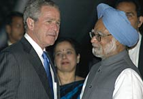 George W Bush's visit to India