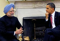 Manmohan Singh meets Obama in the US