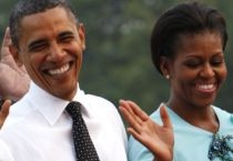 Barack, Michelle Obama in Delhi