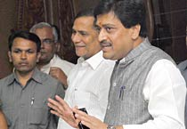 Maha CM resigns, attends press conference
