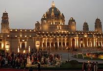 Umaid Bhawan Palace lights up for Yuvraj Shivraj's wedding