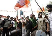 BJP celebrates victory in Bihar elections
