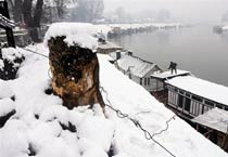 Kashmir Valley covered in snow