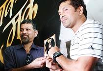 Sachin at launch of music album 'Bhav Muke'